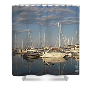 Harbor Cams Shower Curtain
