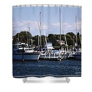 Boat Harbor In Dunkirk New York Shower Curtain