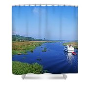 Boat In The River, Shannon-erne Shower Curtain