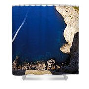 Boat In The Sea Shower Curtain