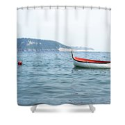 Boat In The Water Shower Curtain