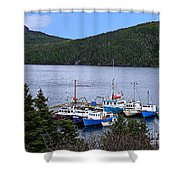 Boat Lineup Shower Curtain