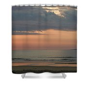 Boat On Horizon In Maine Shower Curtain
