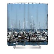 Boat Slips Shower Curtain