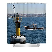 Boat Watchers Shower Curtain