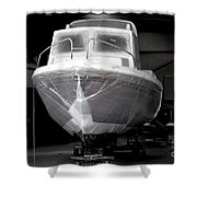 Boat With Protection Shower Curtain