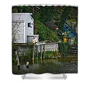 Boathouse Boy Fishing Shower Curtain