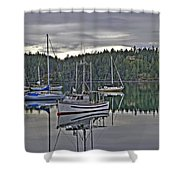 Boating Reflections Shower Curtain