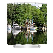Boats Are In Shower Curtain