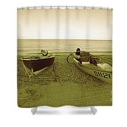 Boats At Beesands Shower Curtain