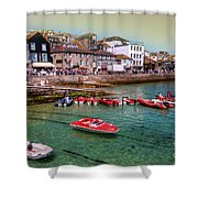 Boats At St Ives  Shower Curtain