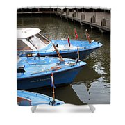 Boats In Amsterdam. Holland Shower Curtain