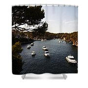 Boats In Cala Figuera Shower Curtain