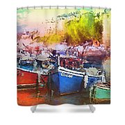 Boats In Italy Shower Curtain