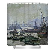 Boats In The Pool Of London Shower Curtain