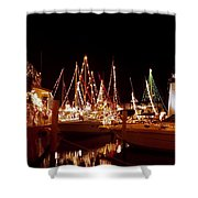Boats Lighted Shower Curtain