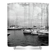 Boats Meeting Shower Curtain