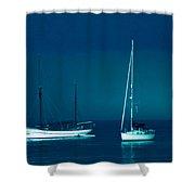 Boats Near Samsoe Island Denmark  Shower Curtain