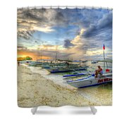 Boats Of Panglao Island Shower Curtain