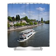 Boats On River Dee Shower Curtain
