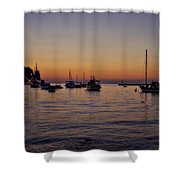 Boats On The Adriatic Sea Shower Curtain