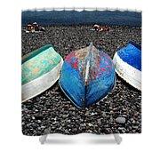 Boats On The Shingle Shower Curtain