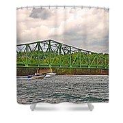 Boats Under Bridge Shower Curtain