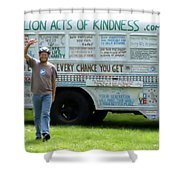 Bob And The Kindness Bus Shower Curtain