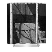 Bodi Ghost Town Window Shower Curtain