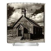 Bodie Church Sepia Shower Curtain