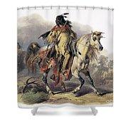 Bodmer: Blackfoot Horseman Shower Curtain