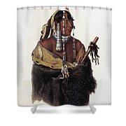 Bodmer: Young Mandan Shower Curtain