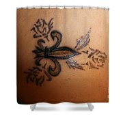 Body Art Shower Curtain