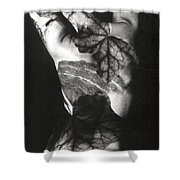 Body Projection Woman - Duplex Shower Curtain