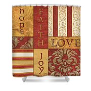 Bohemian Red Spice 1 Shower Curtain