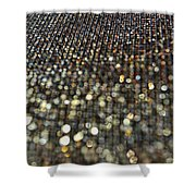 Bokeh Bling Shower Curtain