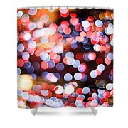 Bokeh Shower Curtain