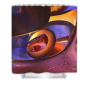 Bold Contagion Abstract Shower Curtain