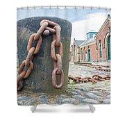 Bollard And Chain Shower Curtain
