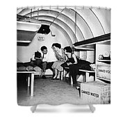 Bomb Shelter, 1955 Shower Curtain