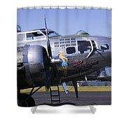 Bomber Sentimental Journey Shower Curtain
