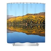 Bonnie Lake Reflections Shower Curtain