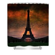 Bonsoir Paris Shower Curtain