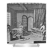 Bookbinder, 1763 Shower Curtain