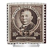 Booker T Washington Postage Stamp Shower Curtain