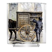 Bookmobile, 1860 Shower Curtain