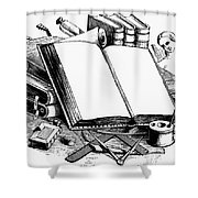 Books: Decorative Cuts Shower Curtain