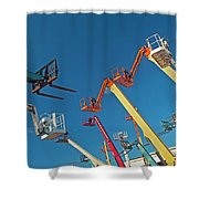 Boomlifts Abstract Shower Curtain