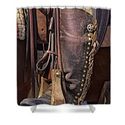 Boots Of A Drover Shower Curtain