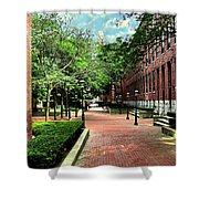 Boott Cotton Mills Courtyard 2 Shower Curtain